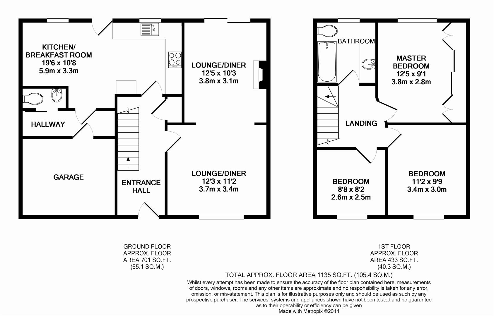 Floorplan for Middleton Road, Horsham